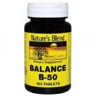 Nature's Blend Vitamin Balance B-50, Tablet, 100ct