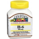 B-6 100 mg Tablets by 21st Century 110ct