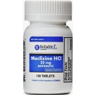 Reliable 1 Meclizine HCL 25 mg Chew Tablets- 100ct