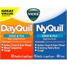 Vicks® Dayquil Nyquil Severe Cold Relief Combo Pack, Caplets, 2-48ct Bottles