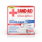 Band-Aid First Aid Medium Gauze Pads, 3x3 Inch, 25ct