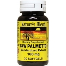Nature's Blend Saw Palmetto Capsules, 160mg, 30ct