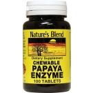 Nature's Blend Digestive Papaya Enzyme Chewable Mint Flavor 100 Tablets
