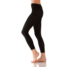 Foot Traffic Microfiber Footless Tights, Large/Tall, Black