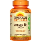 Sundown Naturals Vitamin D3-2000 Iu Softgels Value Size 350ct