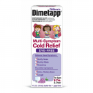 Children's Dimetapp Multi-Symptom Cold Relief Dye-Free, Grape, 4 Fl Oz