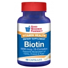 Good Neighbor Pharmacy Biotin 5000mcg 60 Capsules