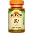 Sundown Naturals Iron Ferrous Sulfate 65 Mg, 120ct