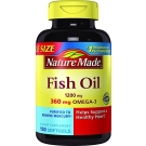 Nature Made Fish Oil 1200mg + 360mg Omega-3 Liquid Softgels - 150ct
