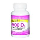 21st Century 600mg+D3 Calcium Supplement Tablets 75ct