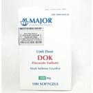 Major DOK Docusate Sodium Softgels 100 mg Unit Dose, 100ct