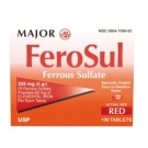 Major Ferosul Red Tabs Ferrous Sulfate 325mg 100 Tablets