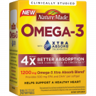 Nature Made Omega-3 with Xtra Absorb 1200 mg Softgels 30ct