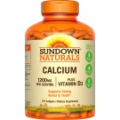 Sundown Naturals Calcium 1200mg plus Vitamin D3 1000 IU Softgels 170ct