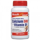 Mason Natural Oyster Shell Calcium 500 Mg Tablets with Vitamin D3 100ct