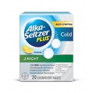 Alka-Seltzer Plus Lemon Night Cold Effervescent Tablets - 20ct