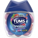 Tums Chewy Bites Assorted Berries Antacid For Heartburn Relief, Chewable 32 Ct