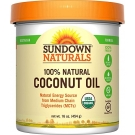 Sundown Naturals 100% Natural Coconut Oil, 16 oz