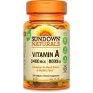 Sundown Naturals Vitamin A 8000 IU Softgels, 100ct