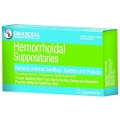 Graxcell Hemorrhoidal Suppositories - 12 Suppositories