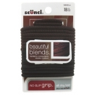 Scünci No Damage Elastics, Black/Brown, 18ct- 3 Packs