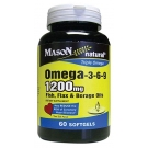 Mason Omega-3-6-9 Softgels, 1200mg, 60ct