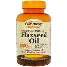 Sundown Naturals Flaxseed Oil 1000mg - 100 Softgels