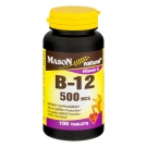 Mason Naturals Vitamin B-12 500 Mcg Tablets - 100ct