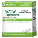 Graxcell Bisacodyl USP 10mg Suppositories 100ct