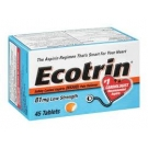 Ecotrin 81 mg Low Strength, Tablets- 45ct