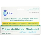 Globe First Aid Triple Antibiotic Ointment Plus Pain Relief - 1oz