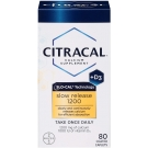 Citracal Calcium Plus D Slow Release 1200 mg Tablets, 80 Ct