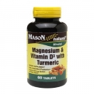 Mason Natural Magnesium & Vitamin D3 with Turmeric, Tablets, 60ct