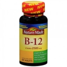 Nature Made Vitamin B-12 Tablets, 2500mcg, 60ct