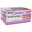 SureComfort Insulin Syringe 30 Gauge, 3/10cc, 1/2