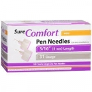 SureComfort Pen Needle 31 Gauge, 3/16