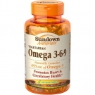 Sundown Naturals Vegetarian Omega 3-6-9 Dietary Supplement Softgels, 50 count