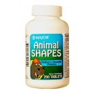 Major Animal Shapes Chewable Tablets 250ct