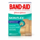 Band-Aid Brand Adhesive Bandages Skin-Flex Assorted, 20 Count