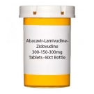 Abacavir-Lamivudine-Zidovudine 300-150-300mg Tablets- 60ct Bottle