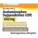 Acetaminophen 650mg Suppositories - 12 Count Box