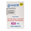 Major Oyster 500mg Tablets  100ct Unit Dose Packaging