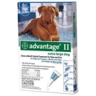 Advantage II  (For Extra Large Dogs, Over 55 lbs) - 6 Pack (Blue)