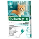Advantage II  (For Kittens, 0-5 lbs) - 4 Pack (Turquoise)