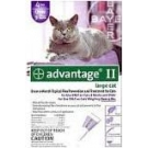 Advantage II  (For Large Cats, Over 9 lbs) - 4 Pack (Purple)