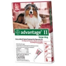 Advantage II  (For Large Dogs, 21-55 lbs) - 6 Pack (Red)
