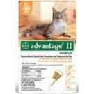 Advantage II  (For Small Cats, 5-9 lbs) - 4 Pack (Orange)