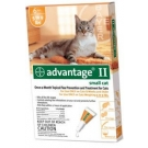 Advantage II  (For Small Cats, 5-9 lbs) - 6 Pack (Orange)