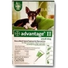Advantage II  (For Small Dogs, 10 lbs & Under) - 6 Pack (Green)