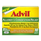 Advil Allergy and Congestion Relief Coated Tablets- 10ct